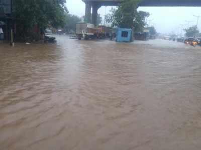 ठाणे में मुंबई के प्रवेश द्वार की स्थिति।