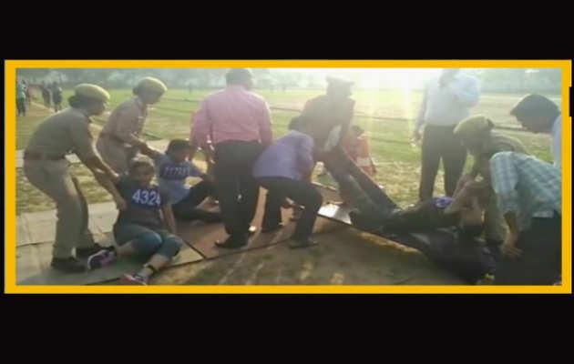 उत्तर प्रदेश पुलिस भर्ती परीक्षा के दौरान बेहोश हुईं महिला परीक्षार्थी