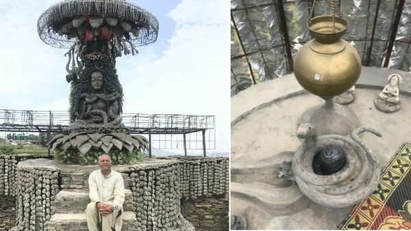 inspired by a dream 64 year old man builds shiva temple over 38 years