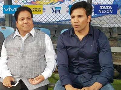 राजीव शुक्ला के साथ अकरम (तस्वीर- फेसबुक से)