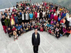 worlds biggest family indian man sets record with 39 wives 94 children and 33 grandchildren all living in one roof in mizoram