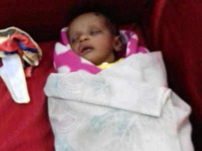 बच्ची को अस्पताल में रखा गया है।