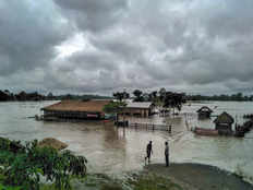 assam flood disaster many displaced after water released from hydel project