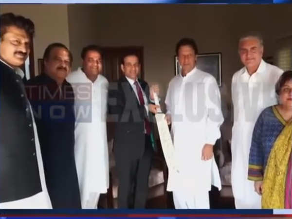 indian envoy ajay bisaria meets imran khan gifts him a bat