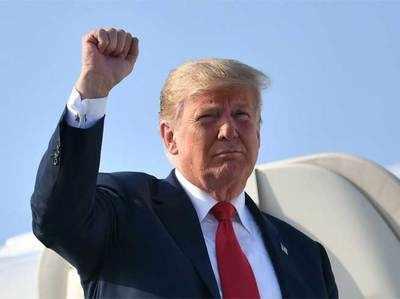 अमेरिकी राष्ट्रपति ट्रंप।