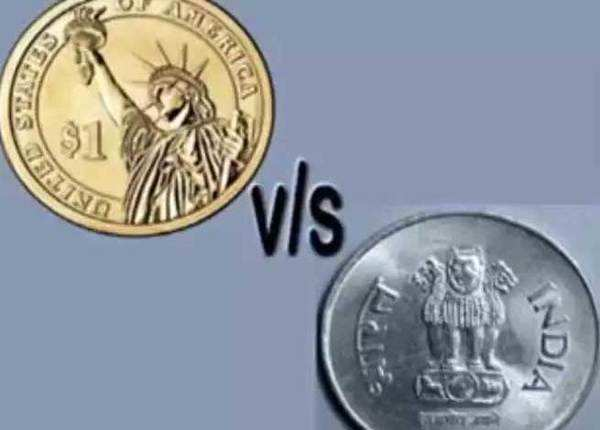 डॉलर के मुकाबले रुपया