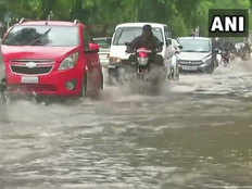 waterlogging in ahmedabad after heavy rain fall