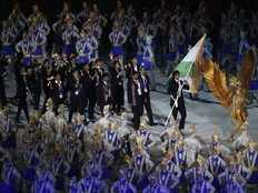 asian games 2018 neeraj chopra leads india at glittering opening ceremony