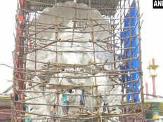 ganesh idol of khairatabad that had reached the height of 57 feet
