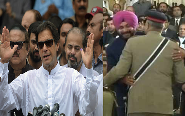 navjot sidhu hug row imran khan throws his weight behind congress leader