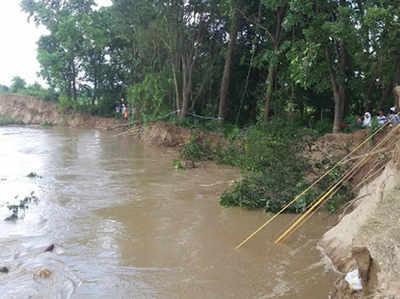 राप्ती की कटान से 200 गांव खतरे में