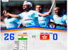 india crush hong kong 26 0 in hockey