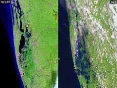kerala floods nasa releases before and after images