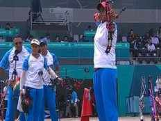 india win silver in archery womens compound team match after losing to south korea