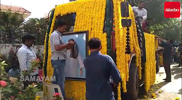 actor harikrishna funeral procession vehicle