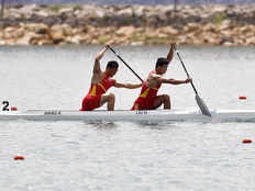 prakant sharma and jamesboy on 8th number in finals of canoe c2 at asiad 2018