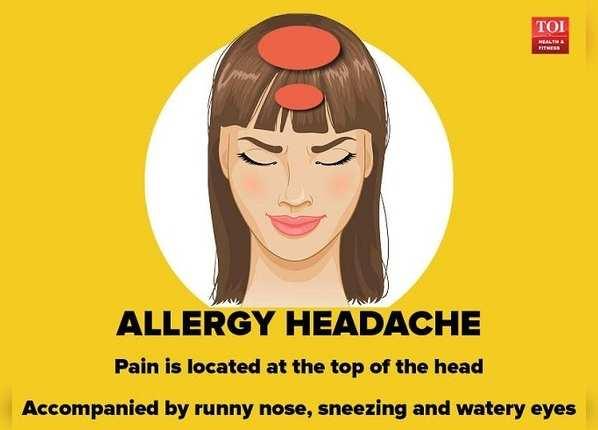 ऐलर्जी के कारण सिरदर्द