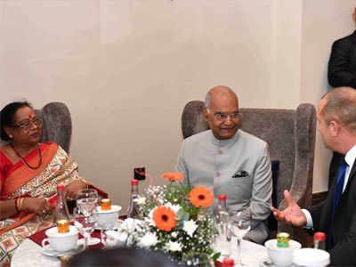 रामनाथ कोविंद के साथ बुल्गारिया के प्रेजिडेंट