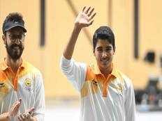 indias saurabh chaudhary wins a gold medal and arjun singh cheema wins a bronze medal in mens 10m air pistol