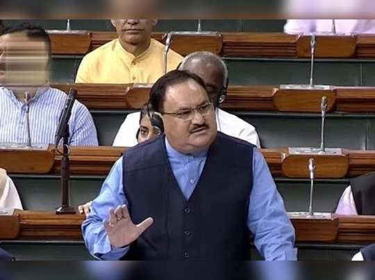 New Delhi: Union Health Minister JP Nadda speaks in the Lok Sabha during the Mon...