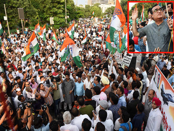 delhi congress workers and leaders protest against rafale aircraft deal