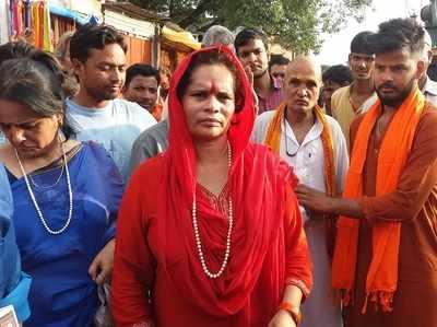 अयोध्या में राम के दर्शन करने पहुंचीं साध्वी प्राची
