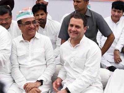राहुल गांधी के साथ अजय माकन।