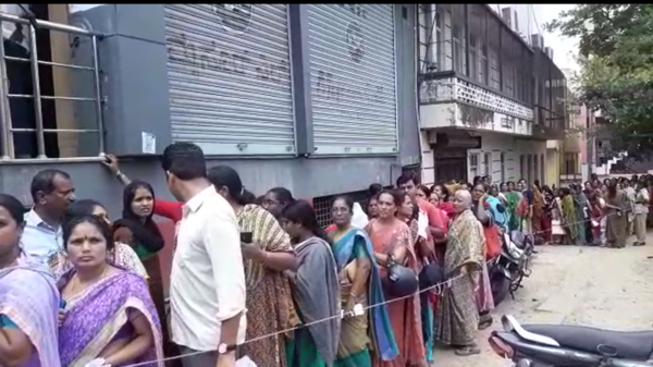 watch sale for mysore silk sarees leads to melee