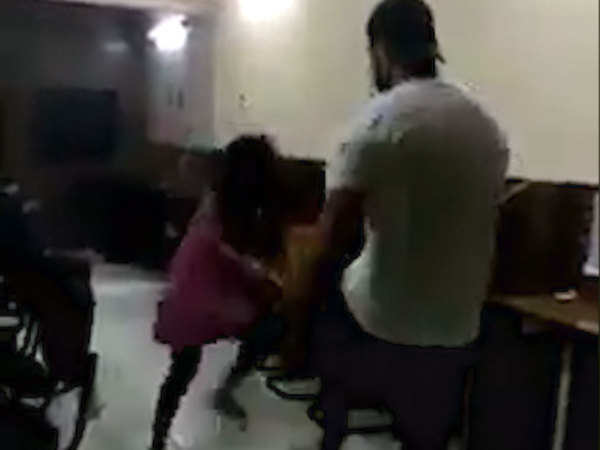 on cam son of delhi police sub inspector brutally thrashes woman arrested