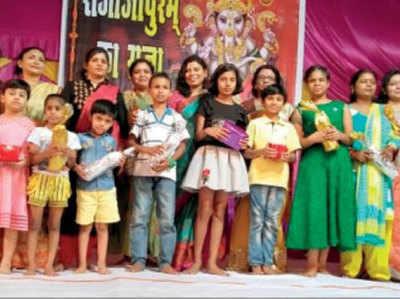 बप्पा के दरबार में बच्चों के सांस्कृतिक कार्यक्रम