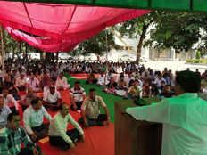 protest continues in kurukshetra university