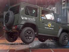 suzuki jimny suv proves weak in driver protection in ncap crash test