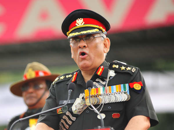 terrorism and peace talks cant take place together general bipin rawat army chief