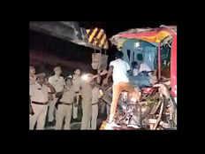 bulandshahr bus truck accident
