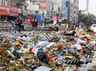 cleanliness workers on the agitation do not let the garbage