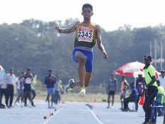 national open athletics championship murli shrishankar win gold with new national record in long jump