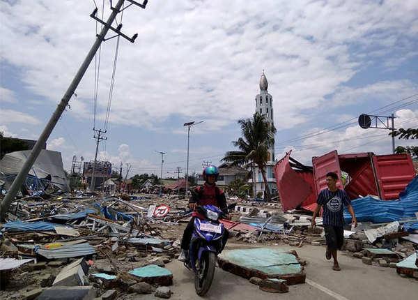 आपदा से पूरा का पूरा शहर ही मलबे में तब्दील हो गया
