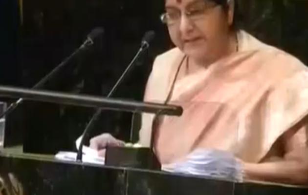 UN में पाकिस्तान पर जमकर बरसीं सुषमा स्वराज
