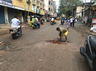 auto driver friends repair damaged chennai road