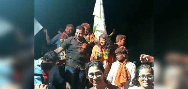 हैदराबाद विश्वविद्यालय छात्रसंघ चुनाव में ABVP का क्लीन स्वीप