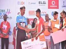 the 6th edition of the premier running eventvodafone coimbatore marathon 2018 is an astounding success with 15000 participation