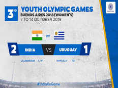 youth olympic hockey india beat uruguay by 2 1