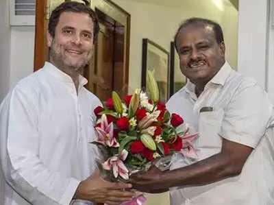 राहुल गांधी और कुमारस्वामी (फाइल फोटो)