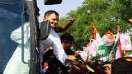 राजस्थान में राहुल गांधी ने खेली रोड शो की 'लंबी पारी'