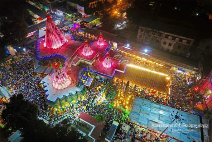 अंबाबाई मंदिर LED रोषणाईने उजळले