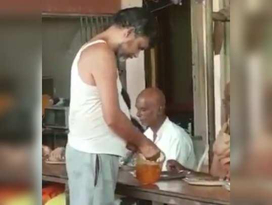 ஓட்டலில் சப்ளையரான சந்திரபாபு நாயுடு