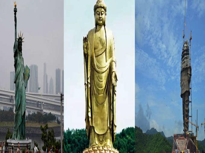 स्टैचू ऑफ यूनिटी: ये हैं दुनिया की सबसे ऊंची मूर्तियां