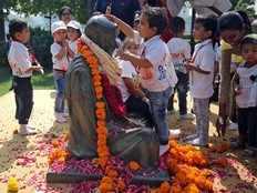 statue of mahatma gandhi in malawi protest gandhi must fall