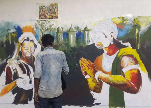 अशोक वाटिका में राम भक्त हनुमान