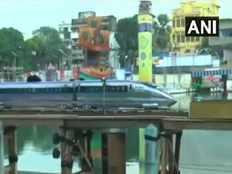 kolkata durga puja pandal shows replica of bullet train